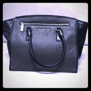Michael Kors black micro stud Selma purse